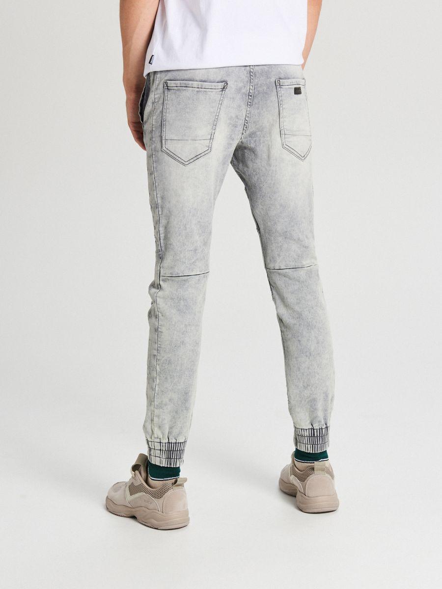 Jogger jeans with stitching - HELLGRAU - WP394-09J - Cropp - 4