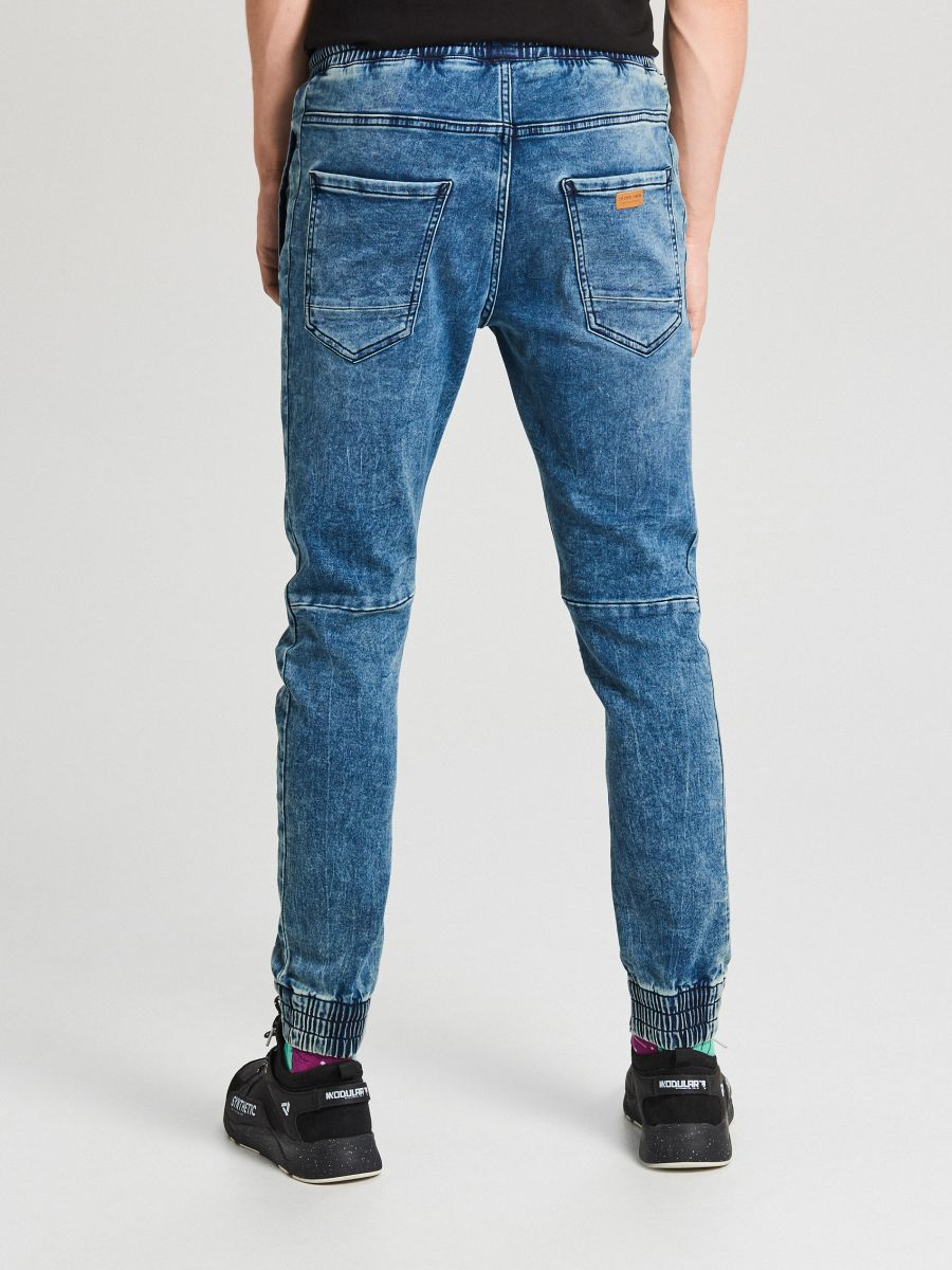 Jogger jeans with stitching - BLAU - WP394-55J - Cropp - 4