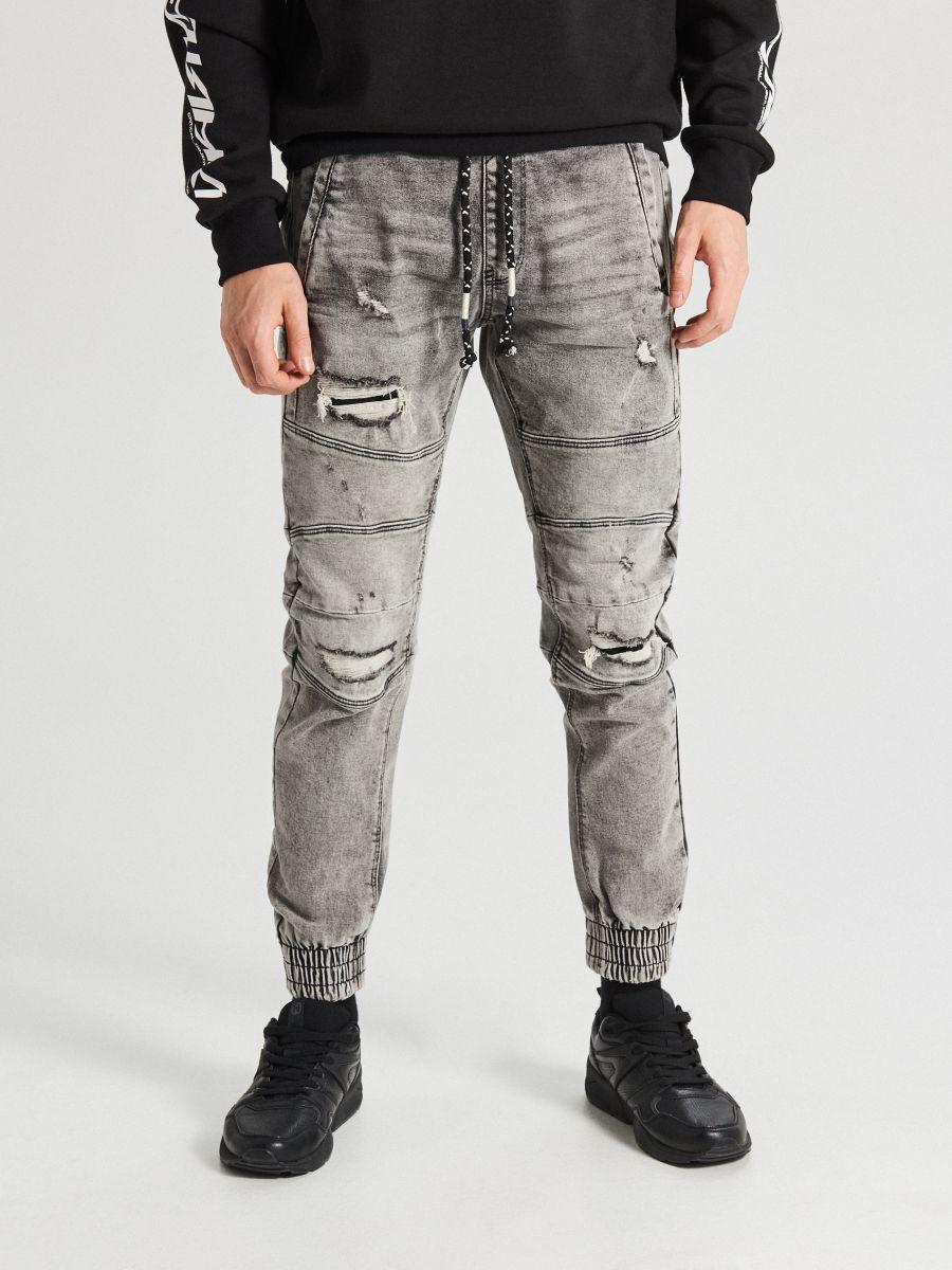 Jogger jeans with stitching - HELLGRAU - WP395-09J - Cropp - 2
