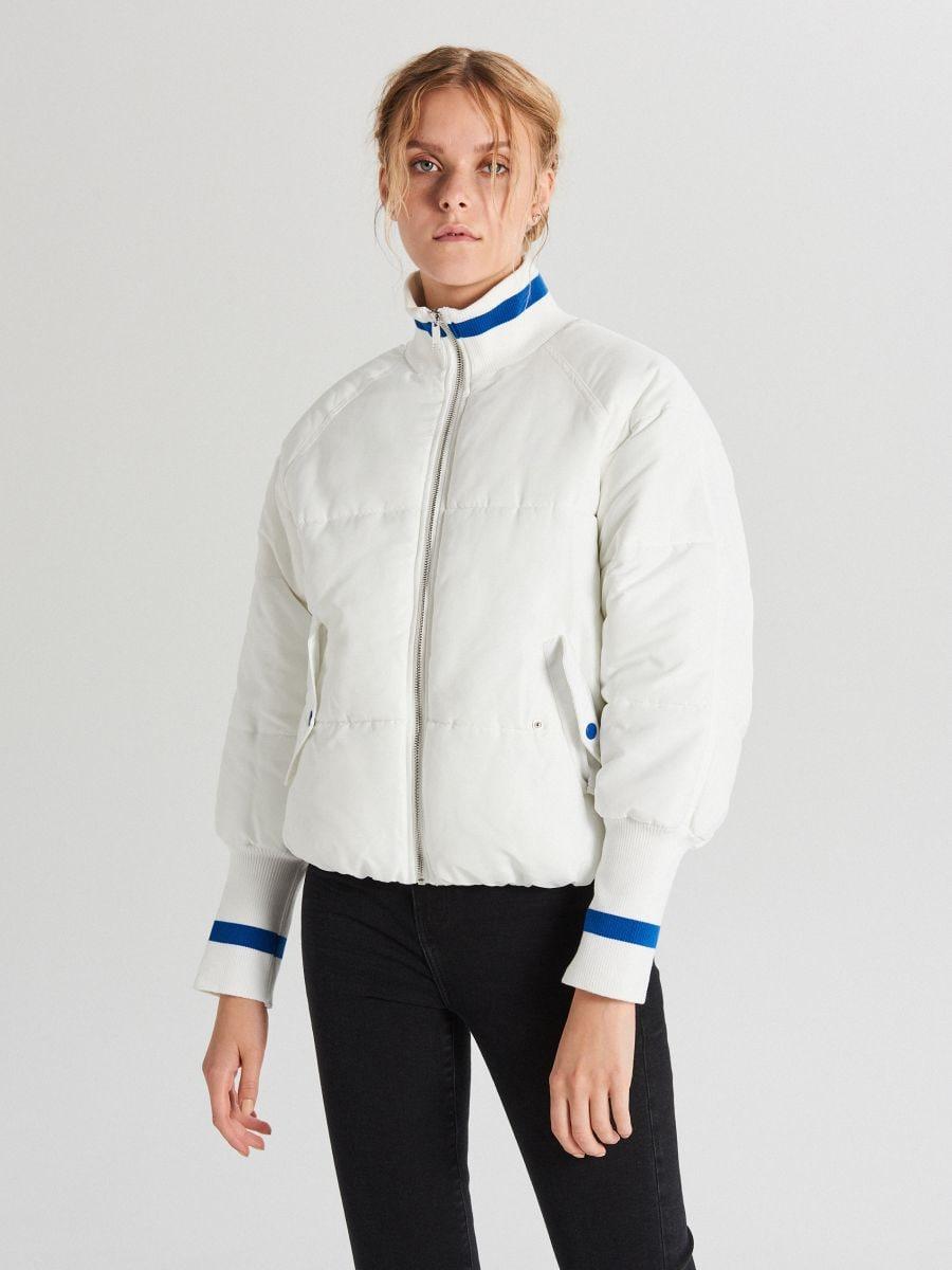 Quilted bomber jacket - WEIß - WS134-00X - Cropp - 1