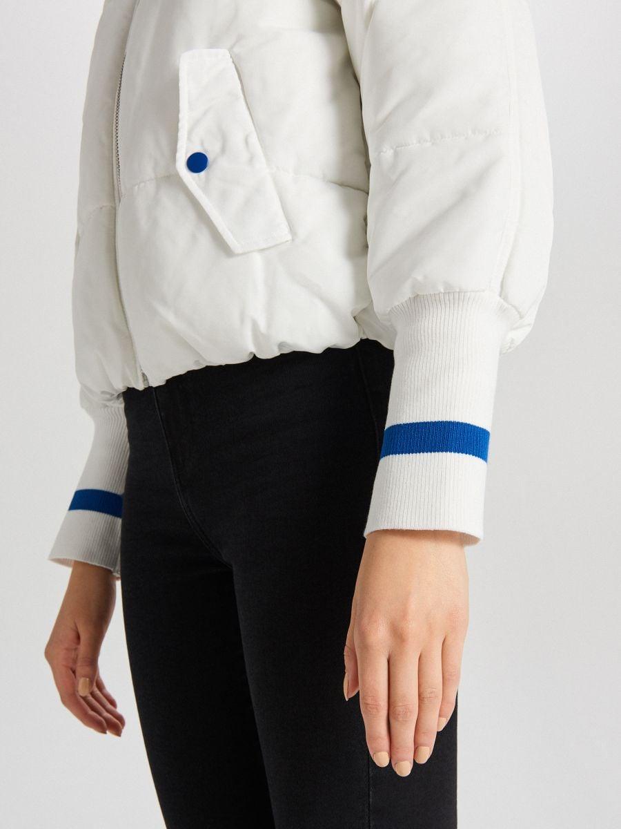 Quilted bomber jacket - WEIß - WS134-00X - Cropp - 6