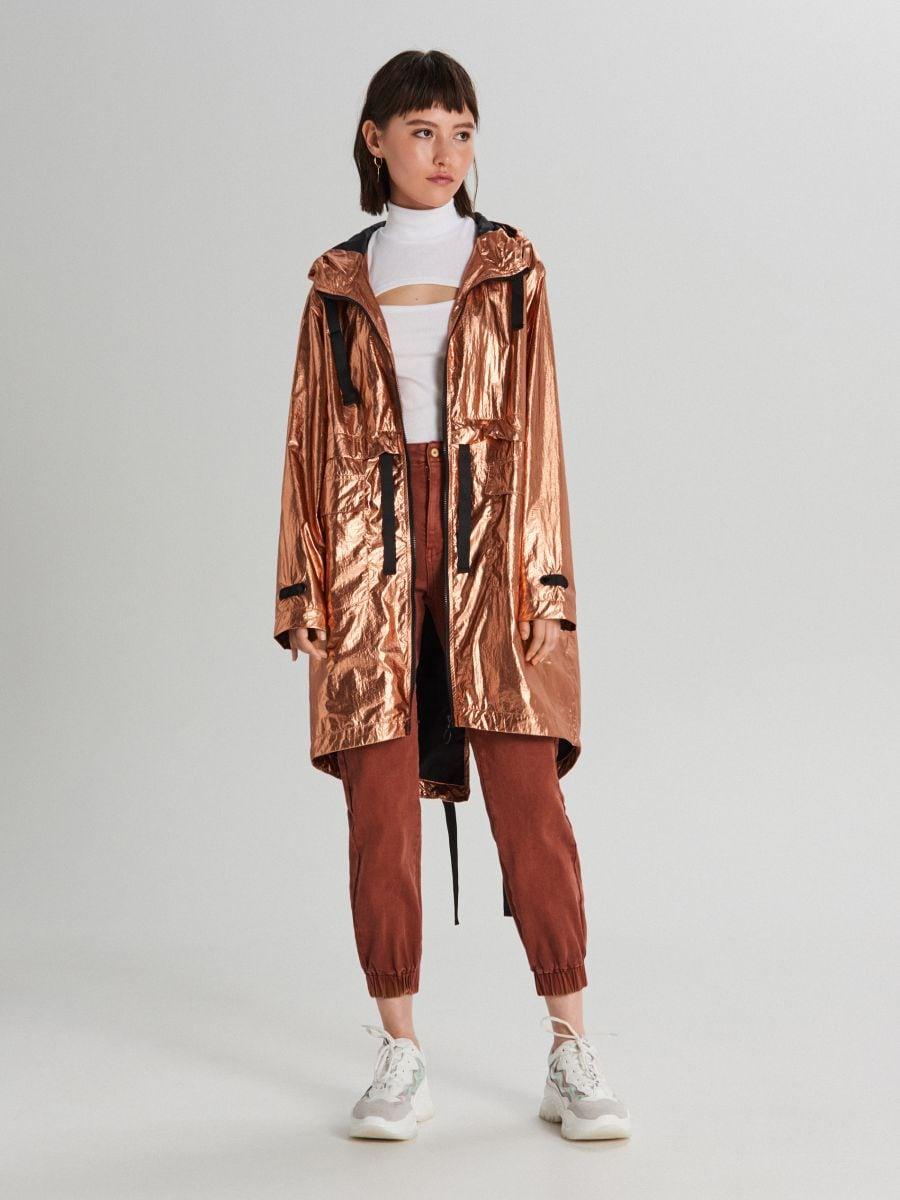 Oversized jacket with metallic finish - ROSA - WS166-40X - Cropp - 1