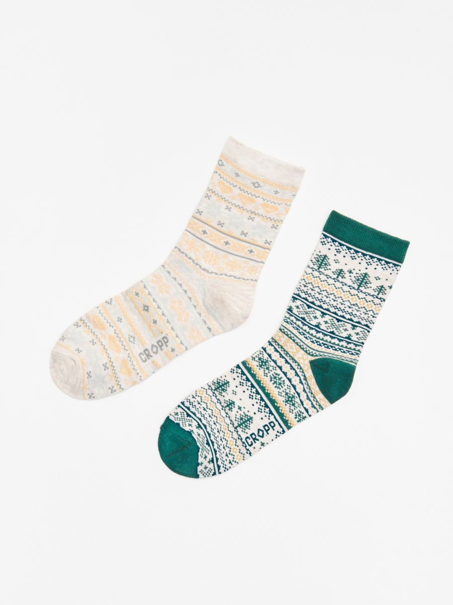 2-pack of socks - GRÜN - WX968-77X - Cropp - 1