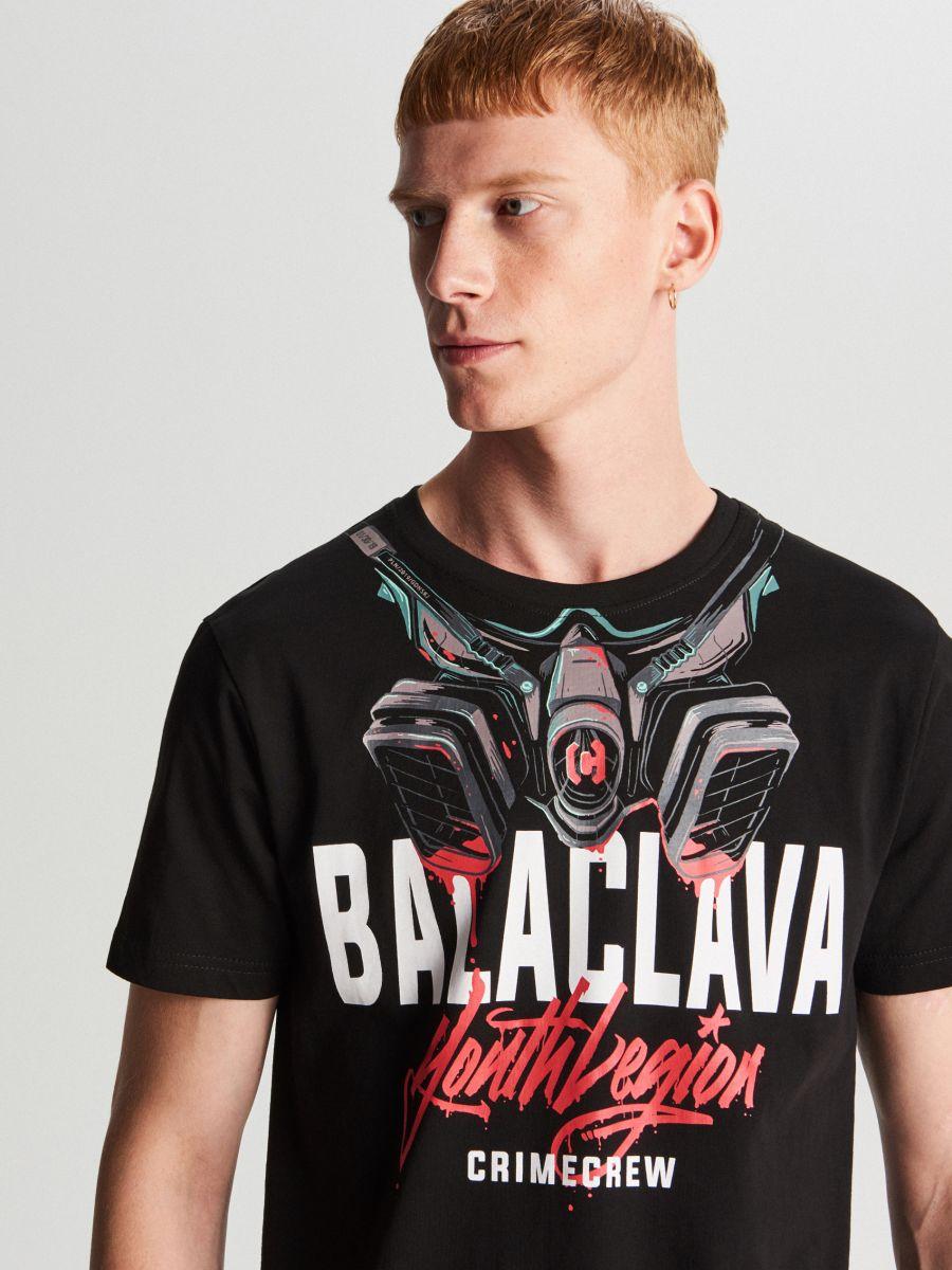 Balaclava T-shirt - SCHWARZ - WY455-99X - Cropp - 1