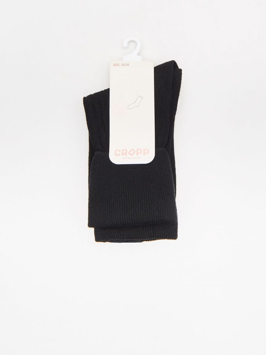 2-pack of socks - SCHWARZ - XD179-99X - Cropp - 2