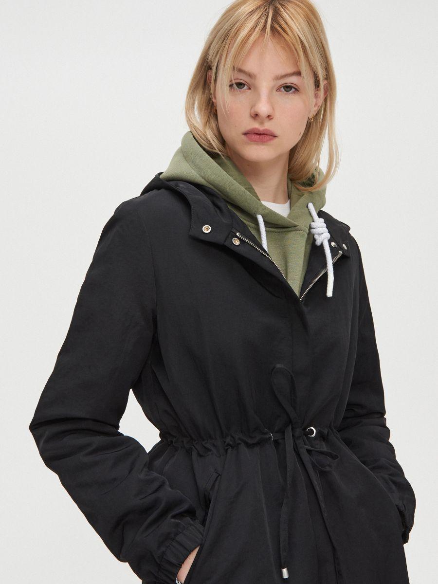Hooded parka - SCHWARZ - XL555-99X - Cropp - 2