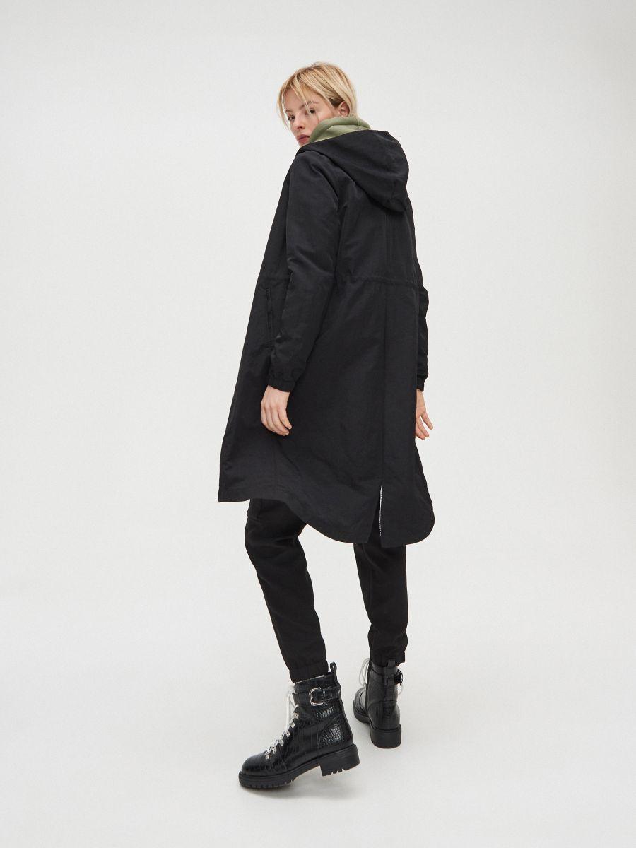 Hooded parka - SCHWARZ - XL555-99X - Cropp - 4