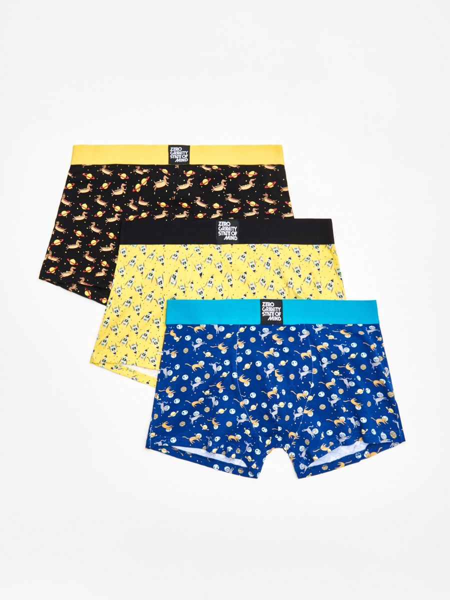 3 pack boxer shorts - GELB - XM366-11X - Cropp - 1