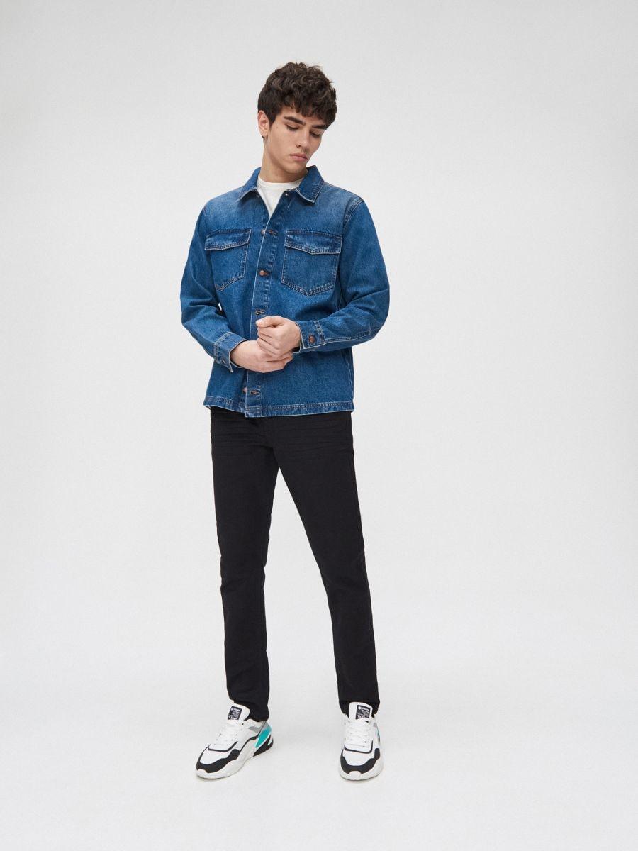 Cotton shirt  - BLAU - XR131-55X - Cropp - 1