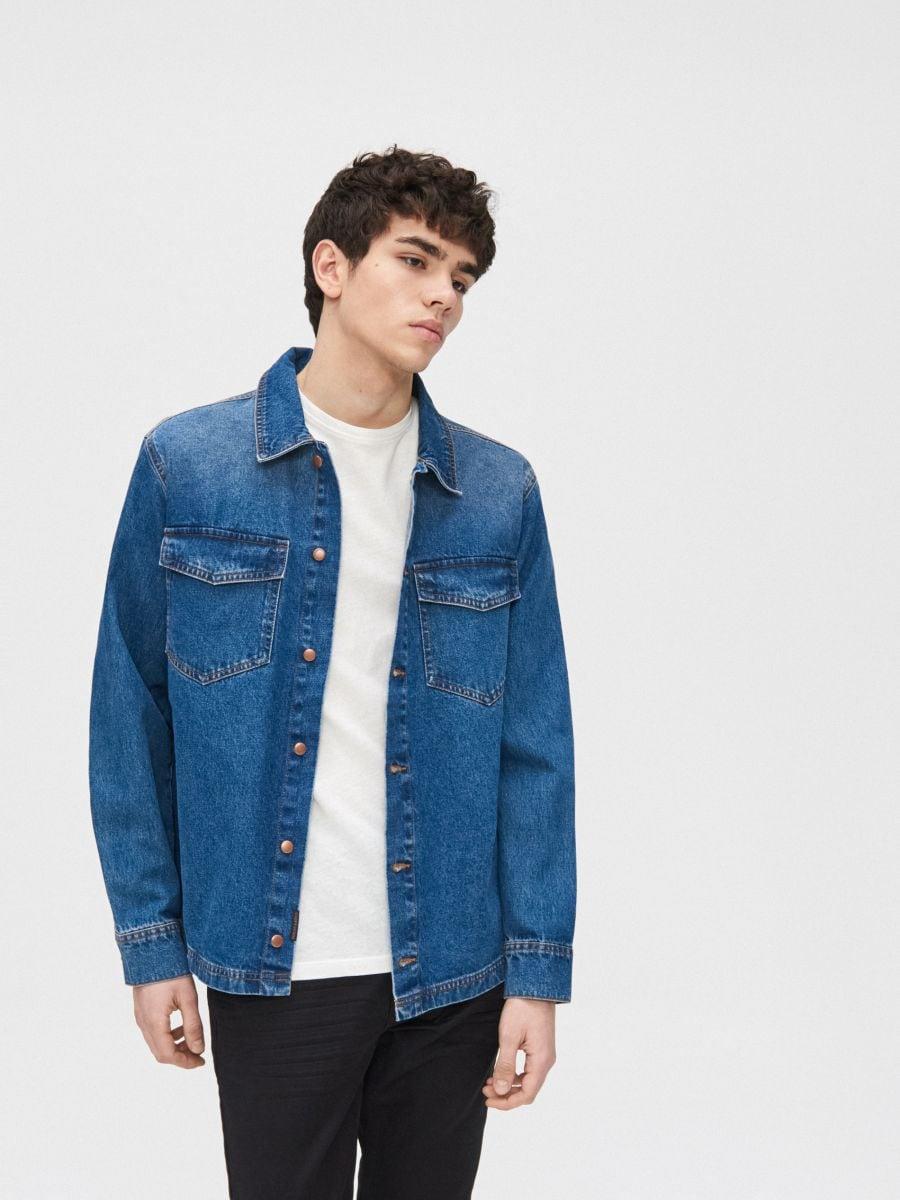 Cotton shirt  - BLAU - XR131-55X - Cropp - 2