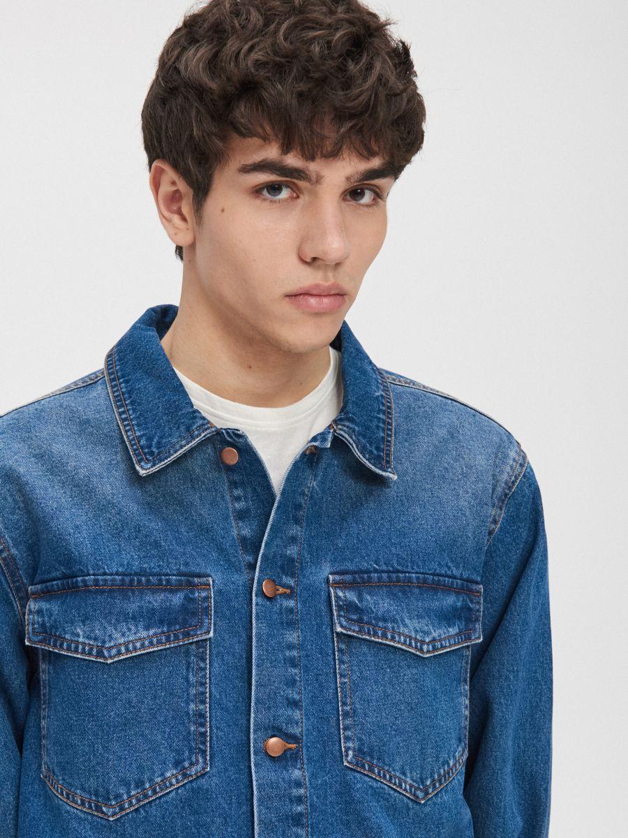 Cotton shirt  - BLAU - XR131-55X - Cropp - 3