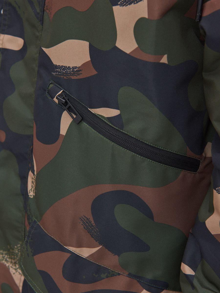 Hooded camo parka - KHAKIGRÜN - XT006-87X - Cropp - 5