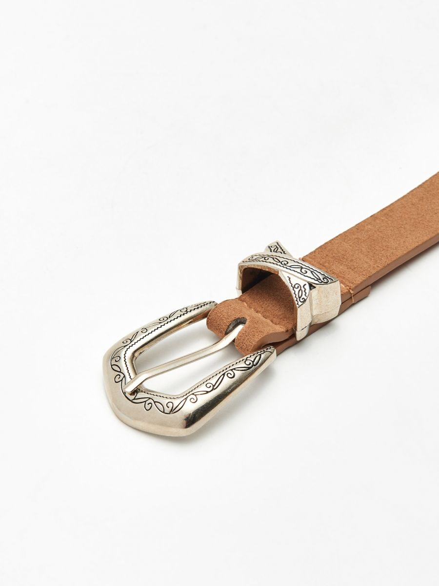 Belt with large buckle - BEIGE - XX414-08X - Cropp - 2