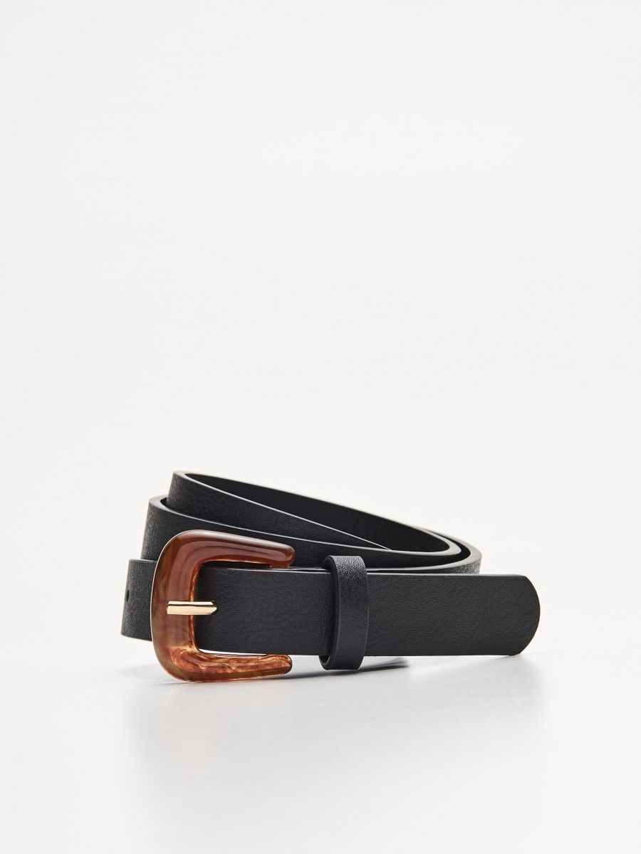 Belt with tinted buckle - SCHWARZ - XX426-99X - Cropp - 1