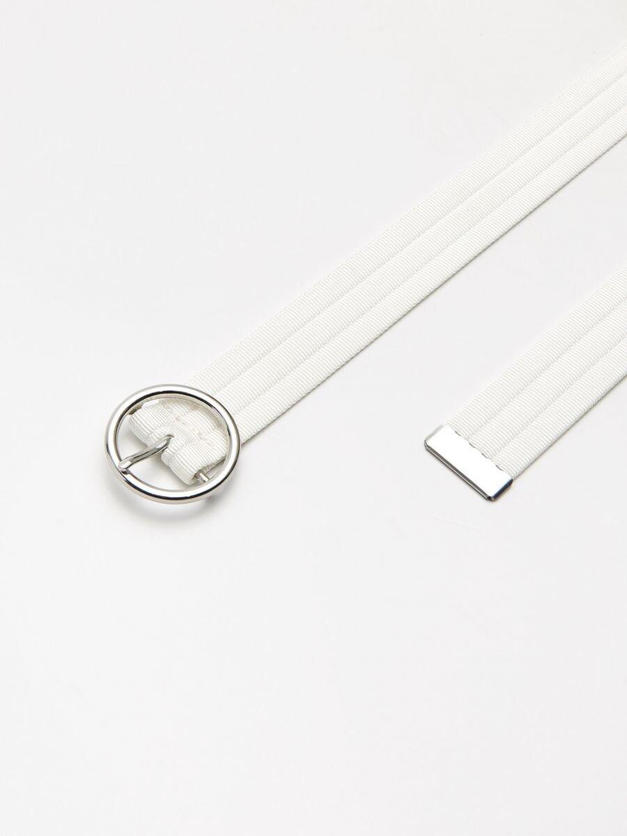 Webbing belt with buckle - WEIß - XX427-00X - Cropp - 2
