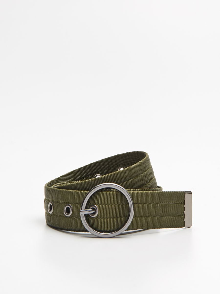 Webbing belt with buckle - KHAKIGRÜN - XX427-87X - Cropp - 1