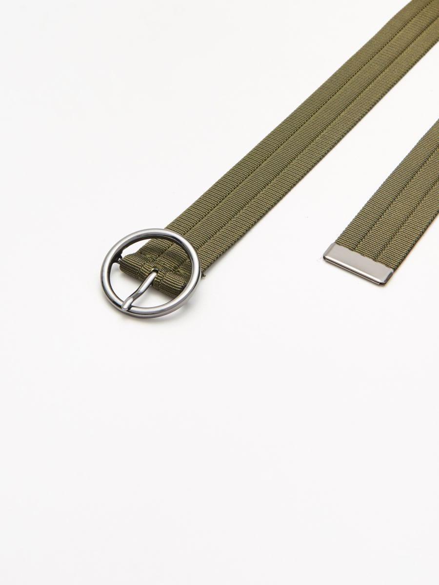 Webbing belt with buckle - KHAKIGRÜN - XX427-87X - Cropp - 2