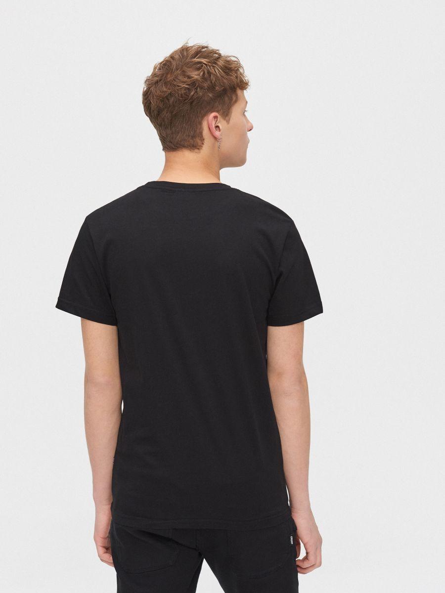 Printed T-shirt - SCHWARZ - XZ389-99X - Cropp - 4
