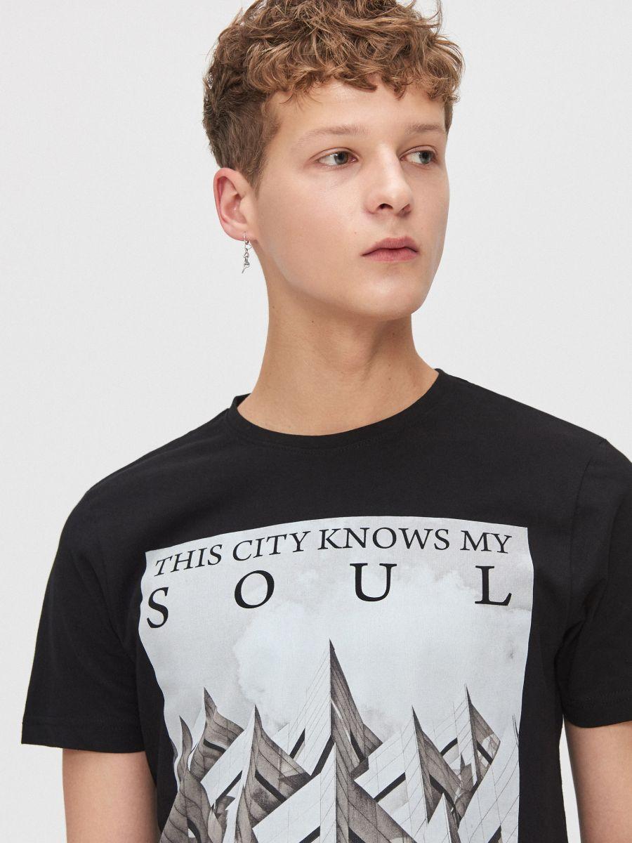 City motif T-shirt - SCHWARZ - XZ394-99X - Cropp - 2