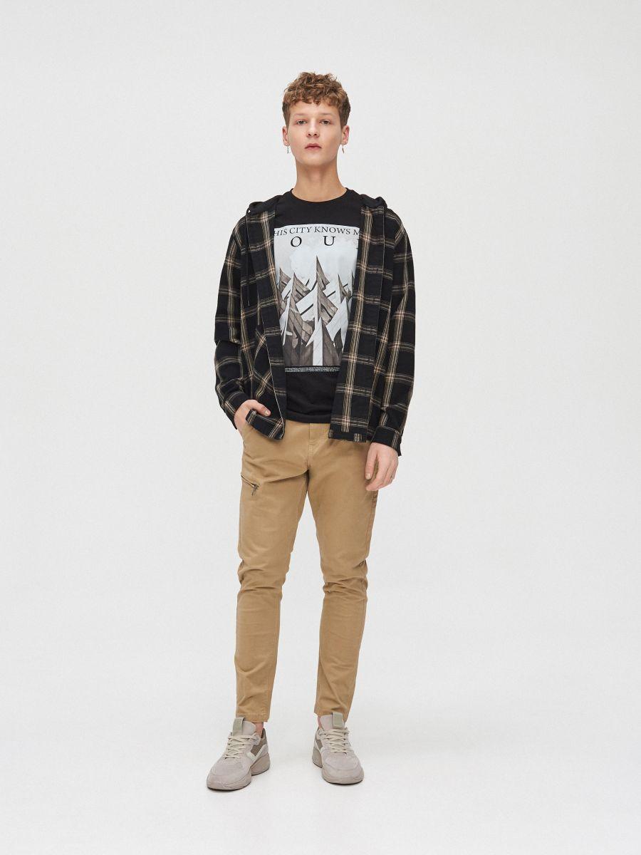 City motif T-shirt - SCHWARZ - XZ394-99X - Cropp - 3