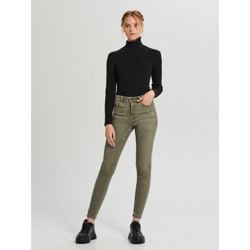 Skinny mid waist jeans