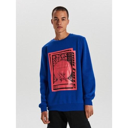 Sweatshirt with neon print