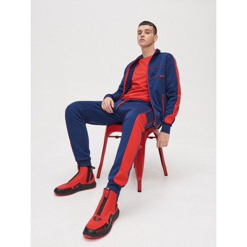 Sweat joggers with trimming