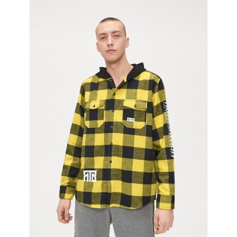 Oversized shirt with hood