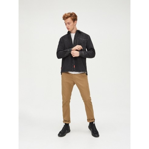 Slim basic trousers