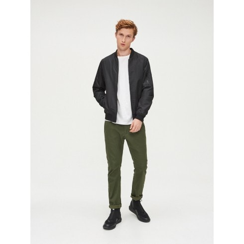 Slim basic trousers