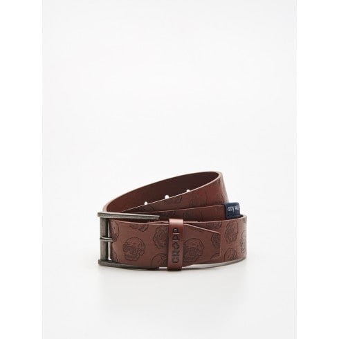 Belt with embossed pattern