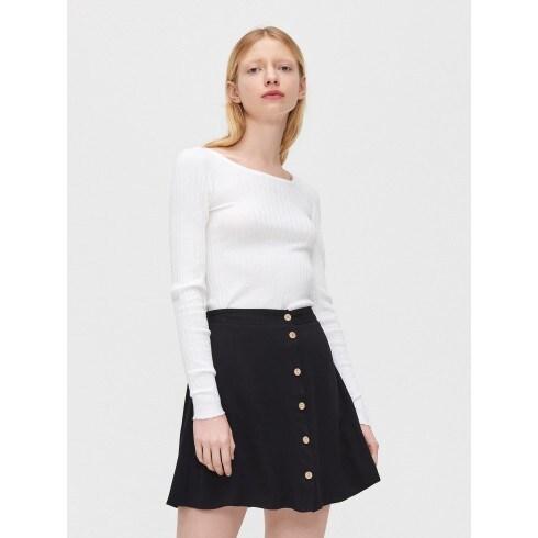 Viscose mini skirt