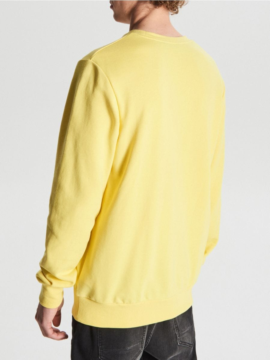 Lekka bluza z nadrukiem - ŻÓŁTY - VU249-10X - Cropp - 4