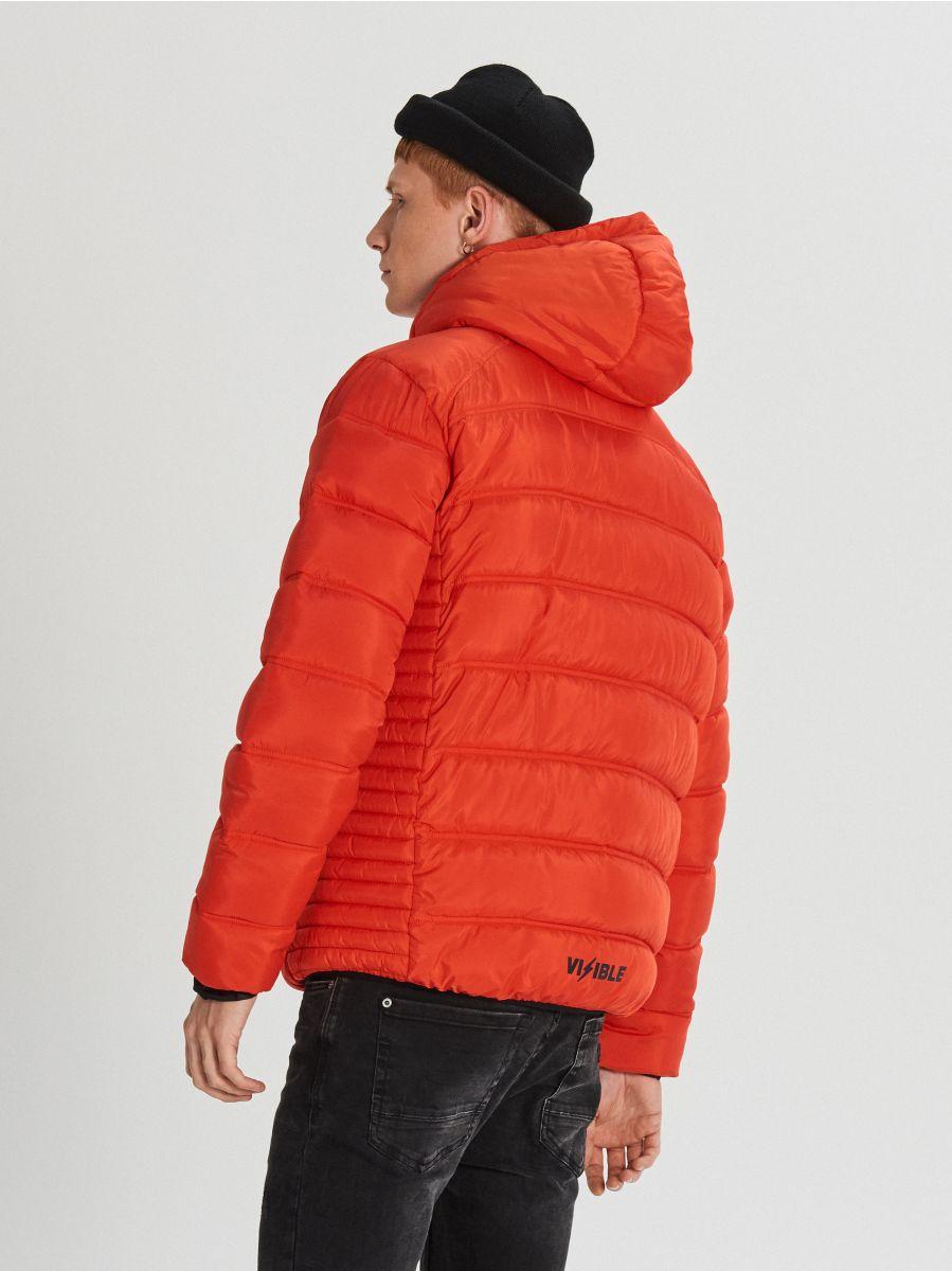 Pikowana kurtka z kapturem - POMARAŃCZOWY - WA088-22X - Cropp - 5