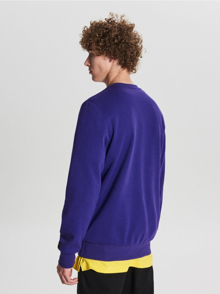 Bluza basic - FIOLETOWY - WB311-45X - Cropp - 4