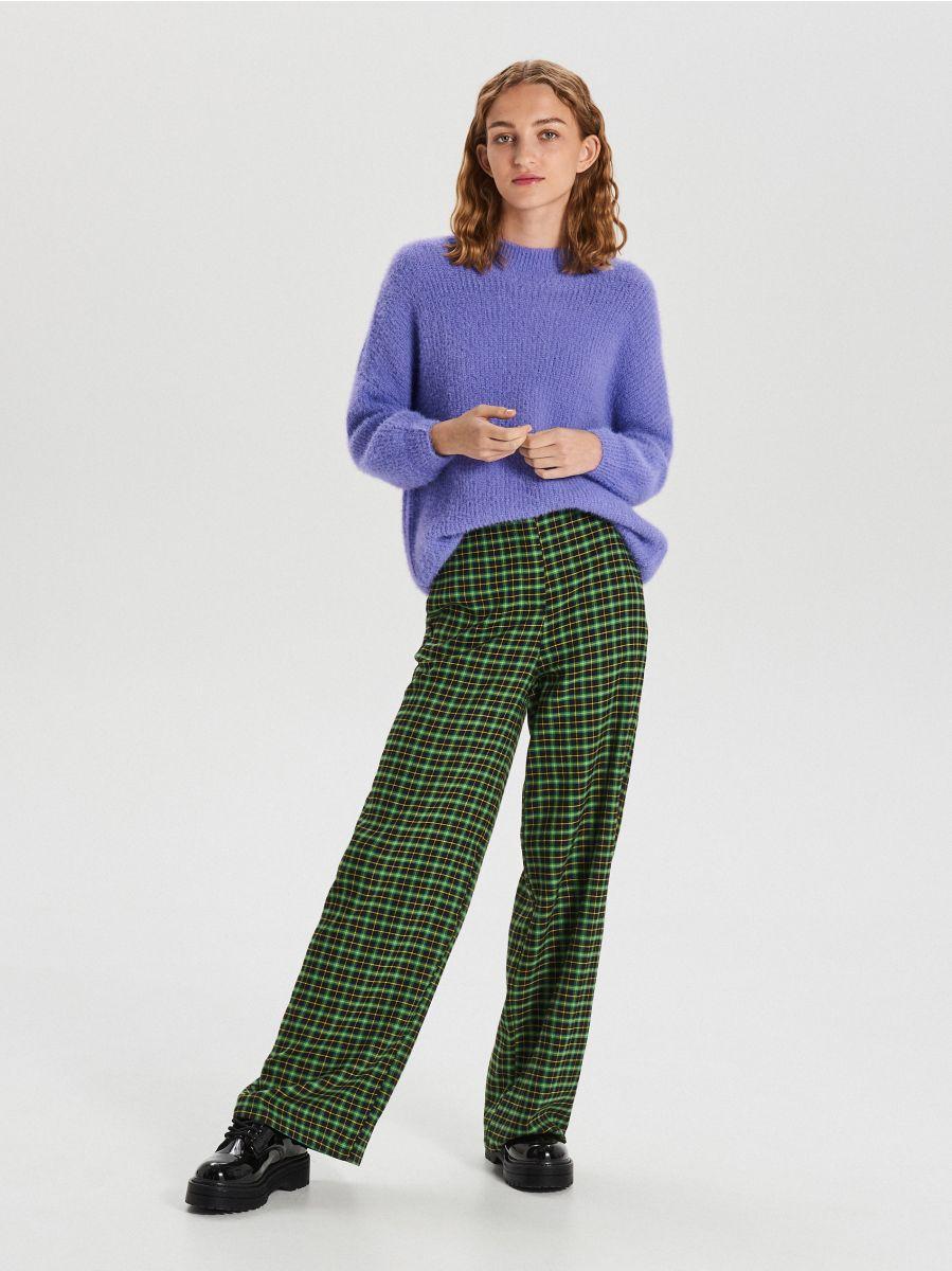 Puszysty sweter - NIEBIESKI - WB898-54X - Cropp - 2