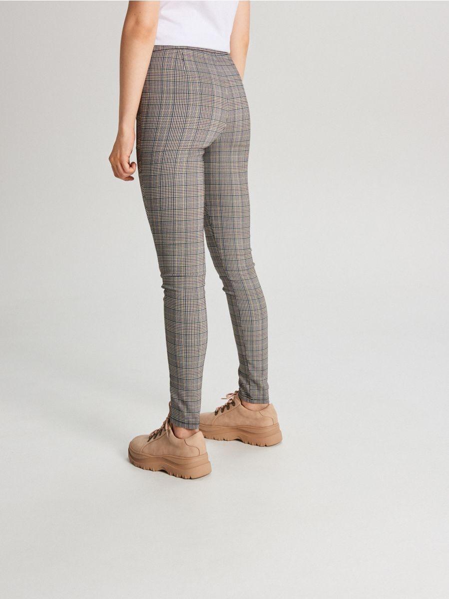 Spodnie high waist z zamkami - POMARAŃCZOWY - WC049-28X - Cropp - 3