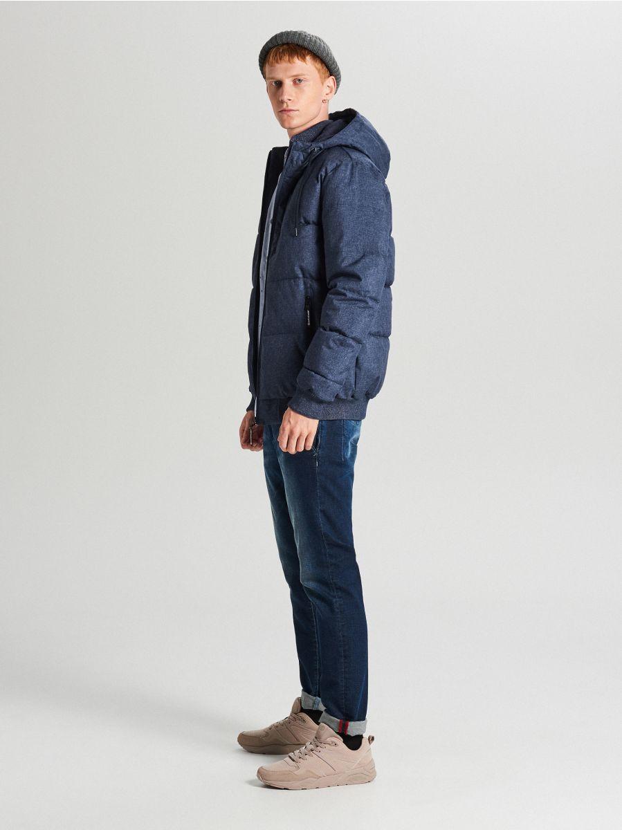 Pikowana kurtka na zimę - GRANATOWY - WC153-59M - Cropp - 3