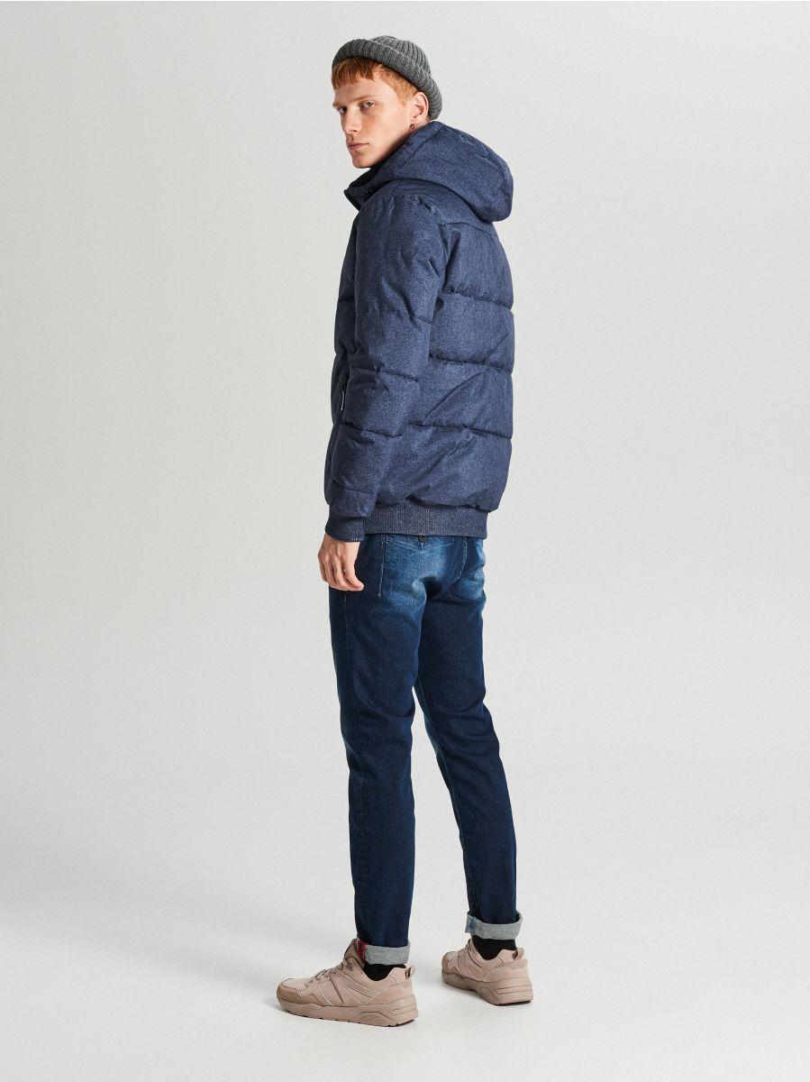 Pikowana kurtka na zimę - GRANATOWY - WC153-59M - Cropp - 6