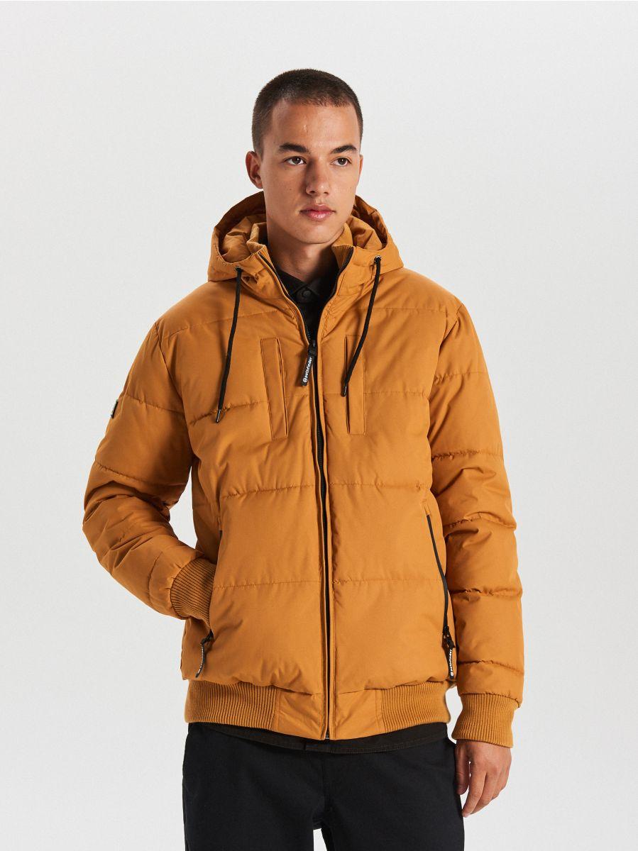 Pikowana kurtka na zimę - BRĄZOWY - WC153-82X - Cropp - 1