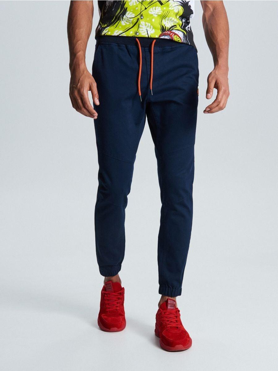 Spodnie slim jogger - GRANATOWY - WD111-59X - Cropp - 2