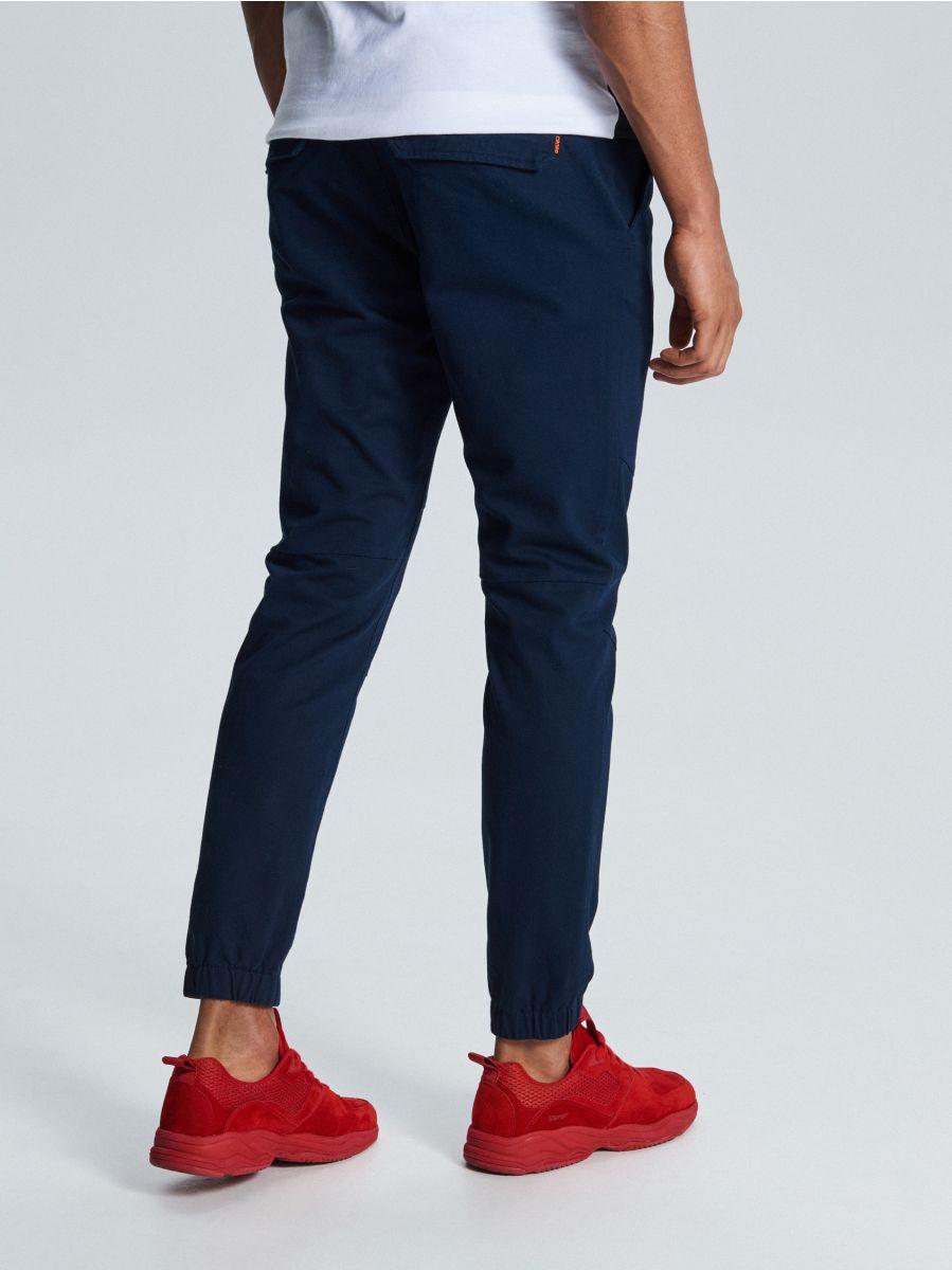Spodnie slim jogger - GRANATOWY - WD111-59X - Cropp - 4