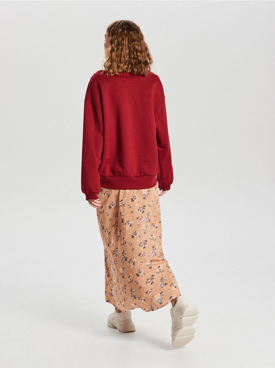 Gładka bluza oversize - FIOLETOWY - WE210-44X - Cropp - 4