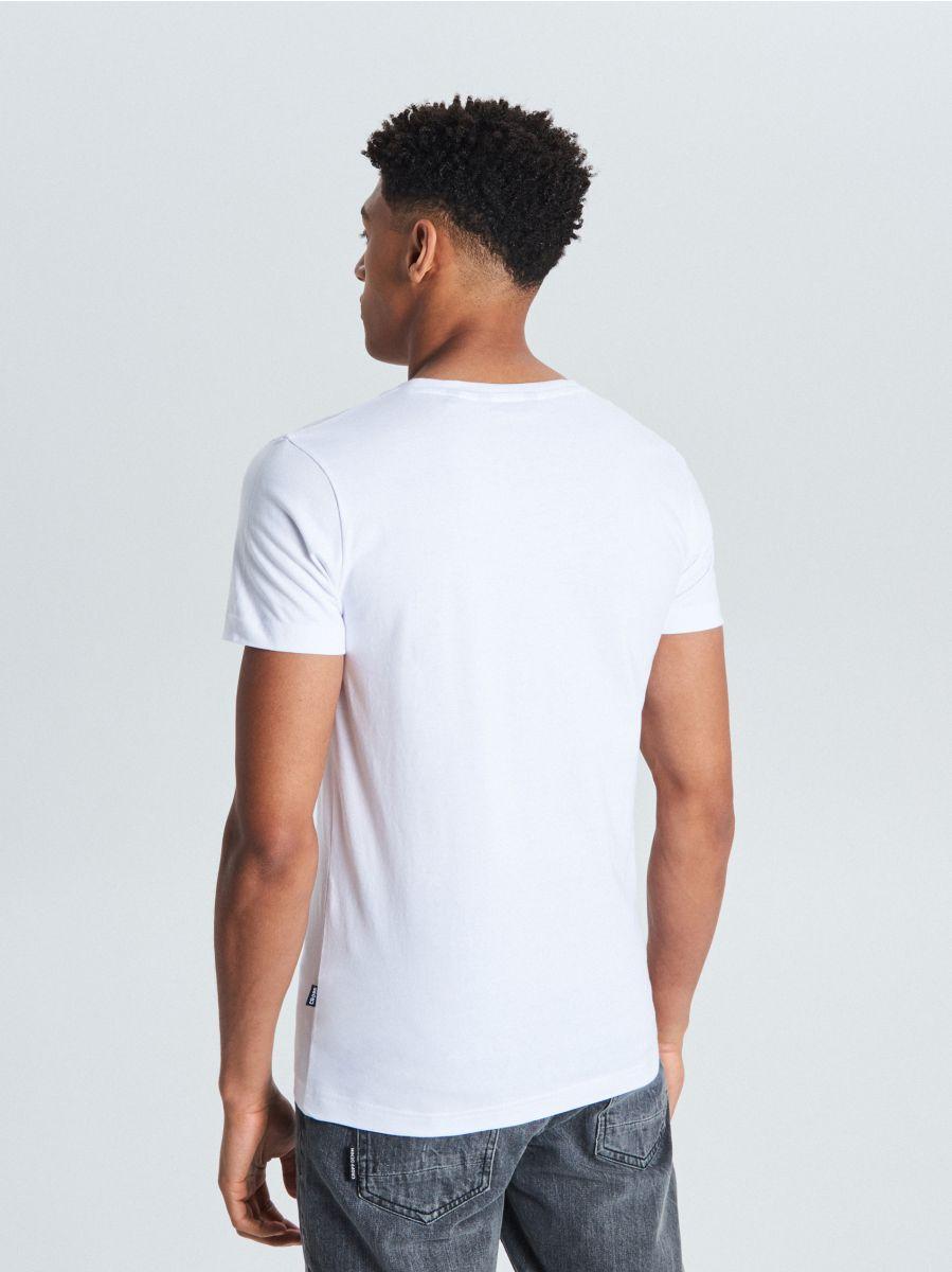 Koszulka z nadrukiem - BIAŁY - WF893-00X - Cropp - 3