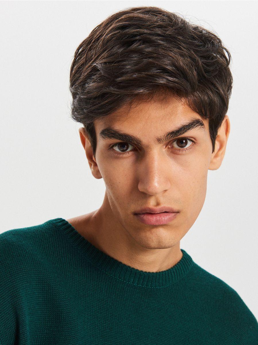 Gładki sweter - ZIELONY - WG371-77X - Cropp - 4