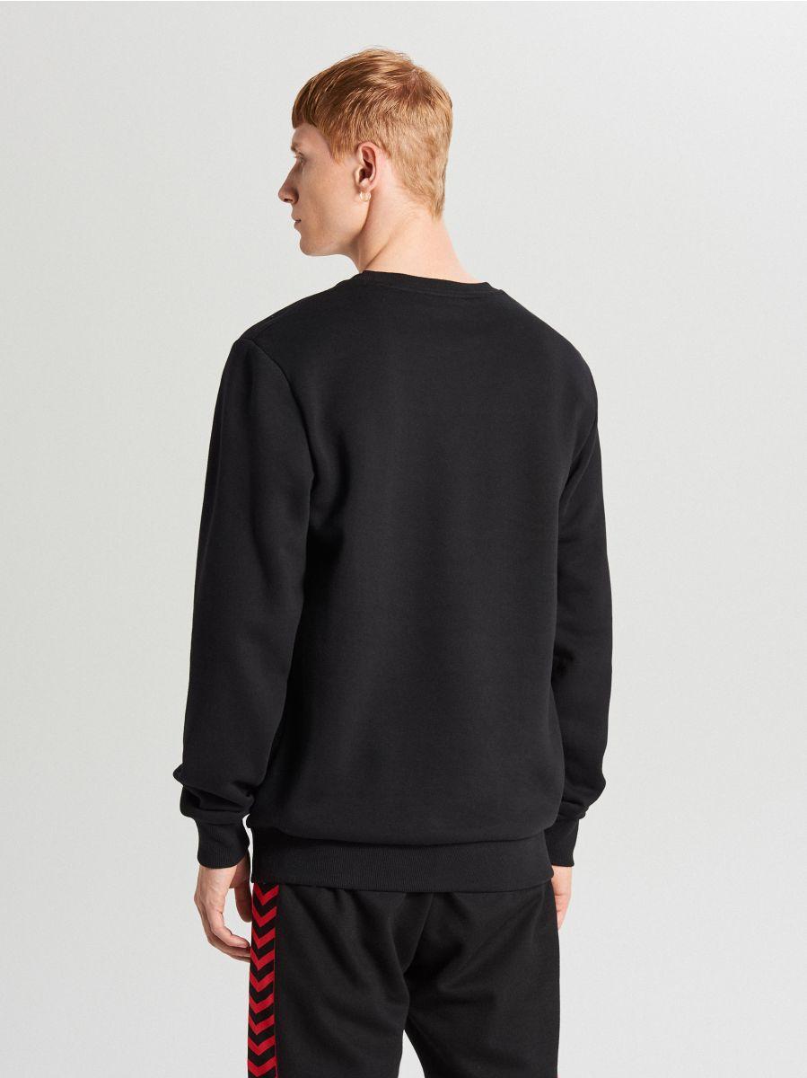 Bluza z napisem - CZARNY - WR640-99X - Cropp - 3