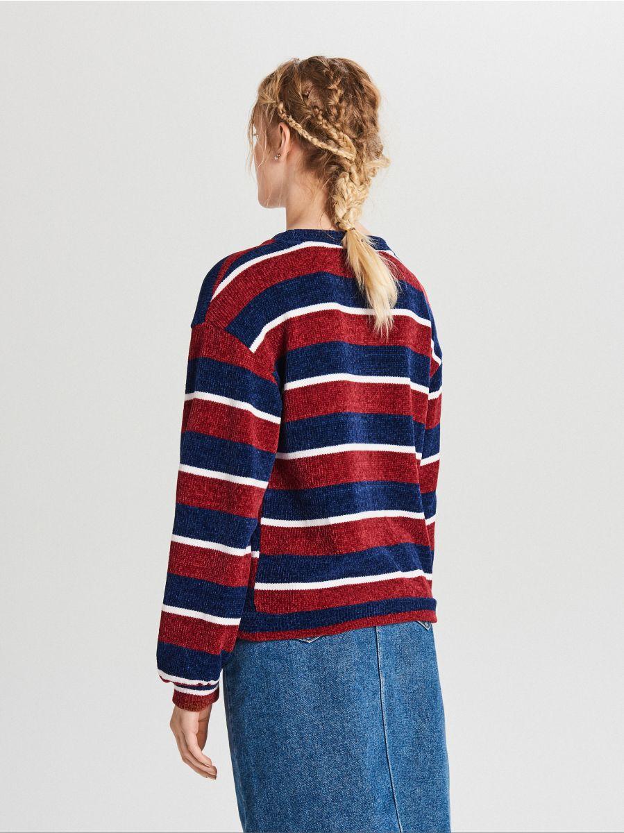 Sweter w paski - GRANATOWY - WR726-59X - Cropp - 3