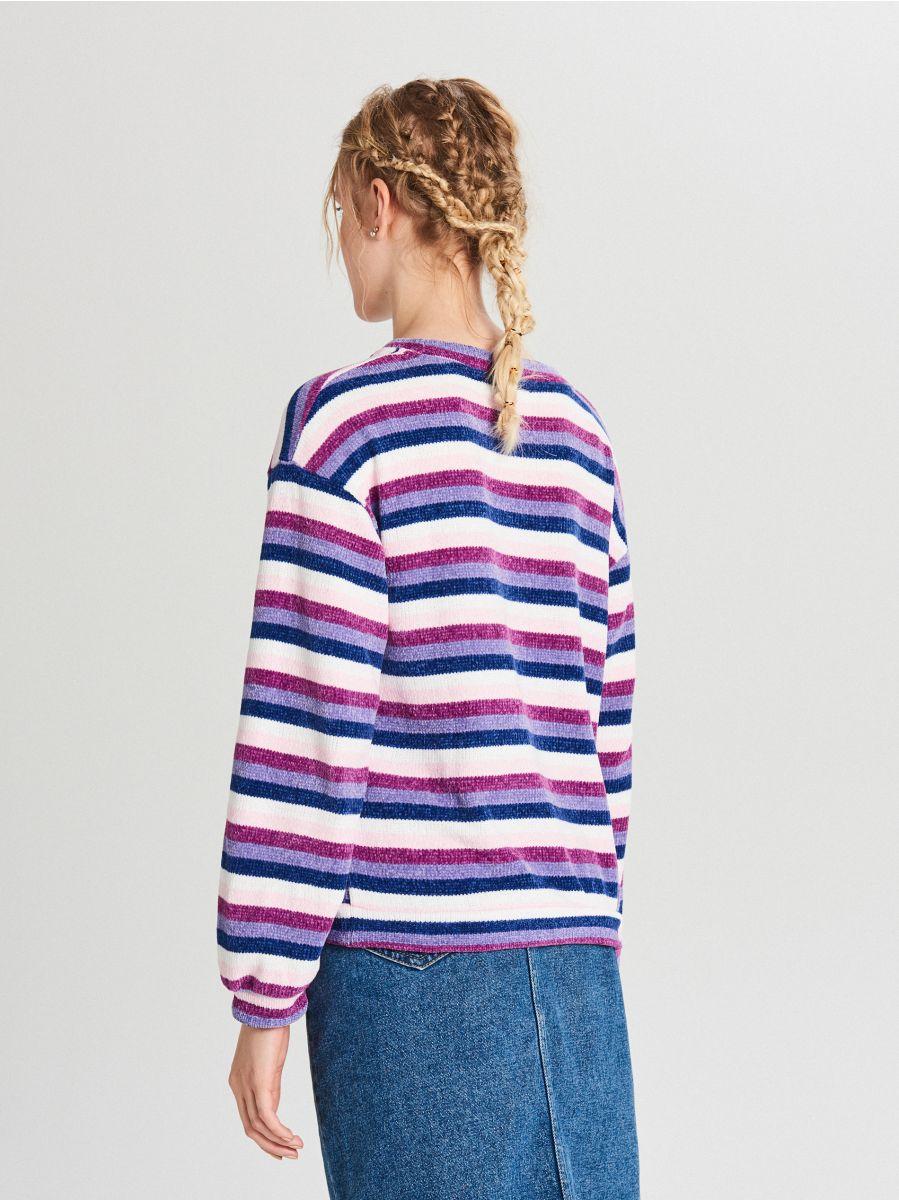 Sweter w paski - WIELOBARWNY - WR726-MLC - Cropp - 4