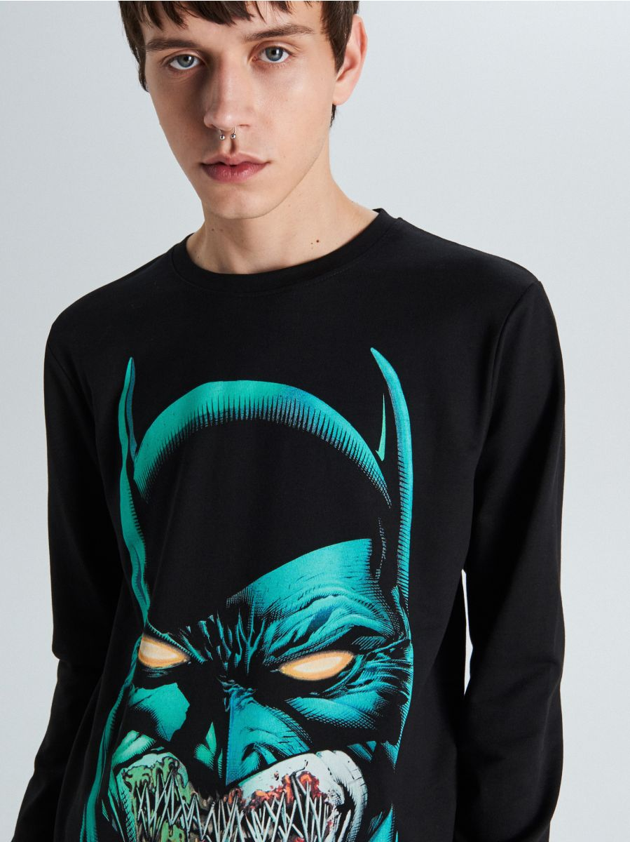 Koszulka Batman - CZARNY - WU707-99X - Cropp - 2
