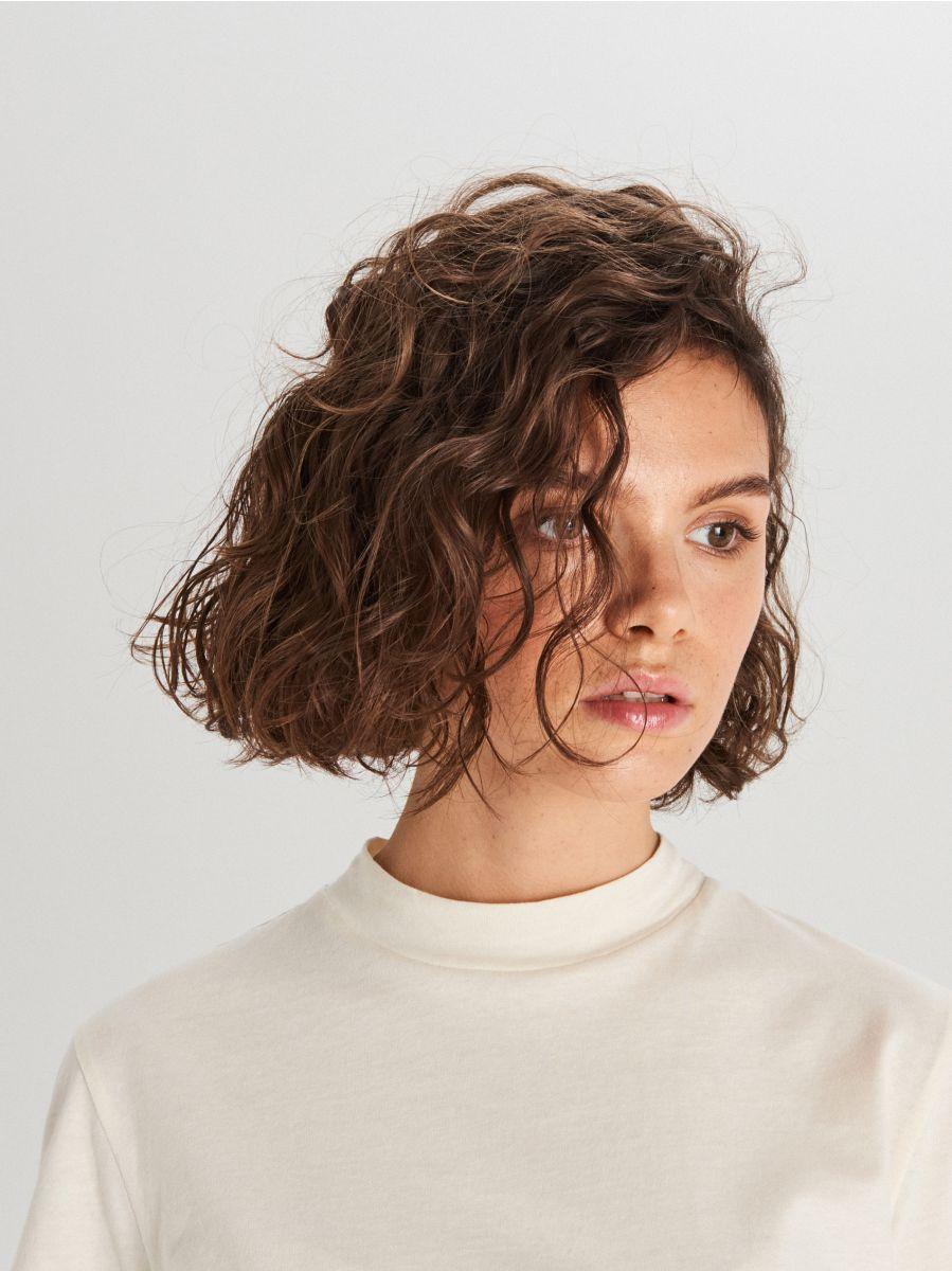 Koszulka basic turtle neck - KREMOWY - WV244-01X - Cropp - 2